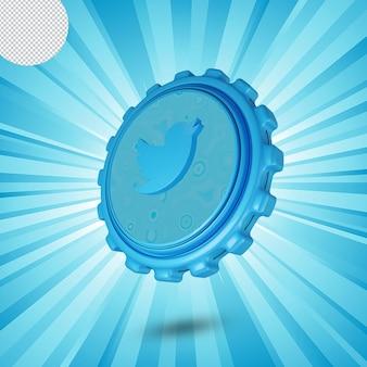 Logotipo de whatsapp brillante aislado diseño 3d
