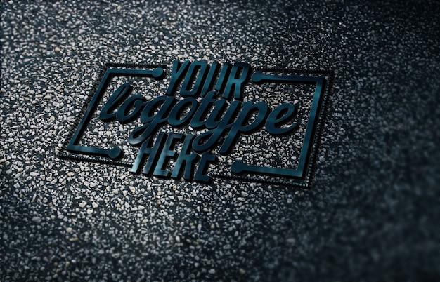 Logotype sjabloon op beton