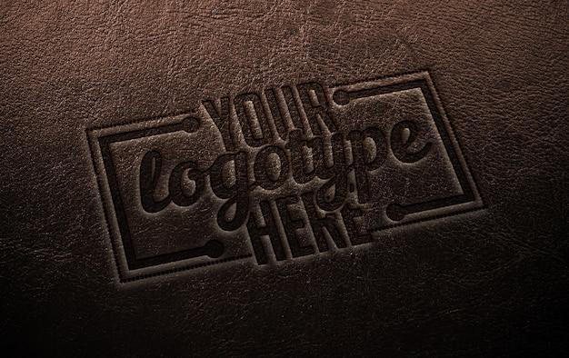 Logotype sjabloon op leer
