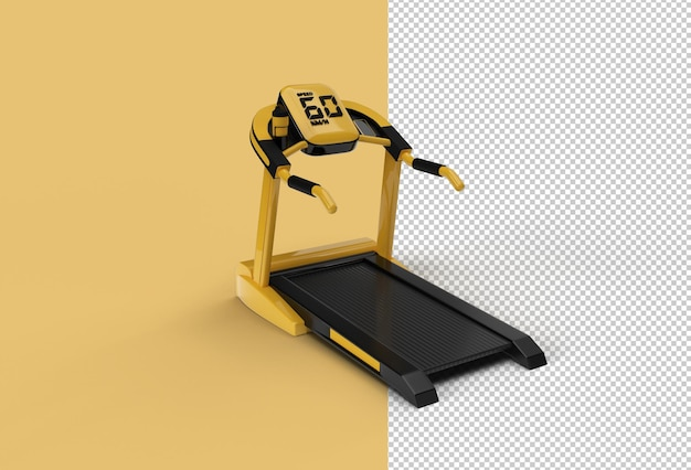 Loopband of running machine transparant psd-bestand.
