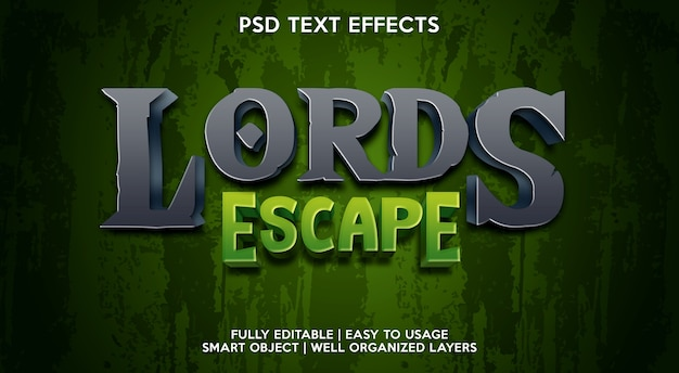 Lord escape-teksteffectsjabloon
