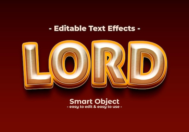 Lord-text-style-effect Gratis Psd