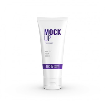 Lotion tube mockup realistische 3d-rendering