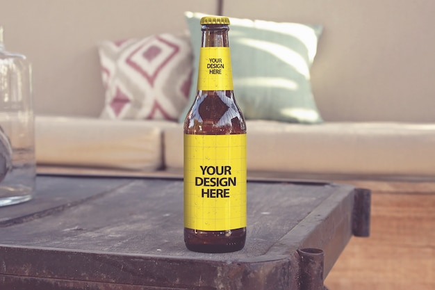 Lounge club style bier mockup