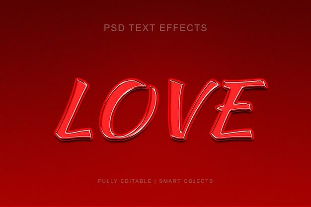 Love stijl teksteffect