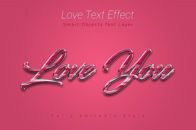 Love text effect