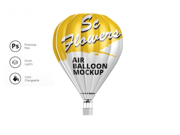 Luchtballon mockup
