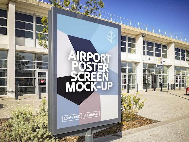 Luchthaven poster scherm