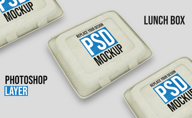 Lunch box mockup design