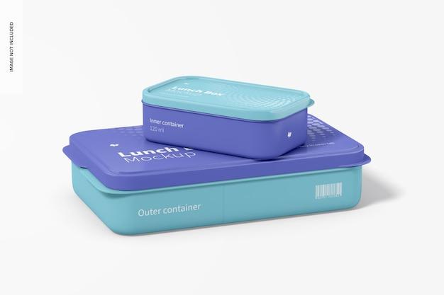 Lunchboxen mockup Gratis Psd