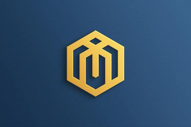 Luxe 3d-logomodel met goudeffect