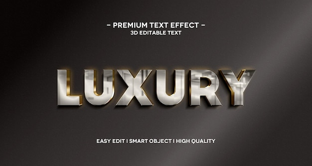 Luxe 3d tekst stijl effect sjabloon