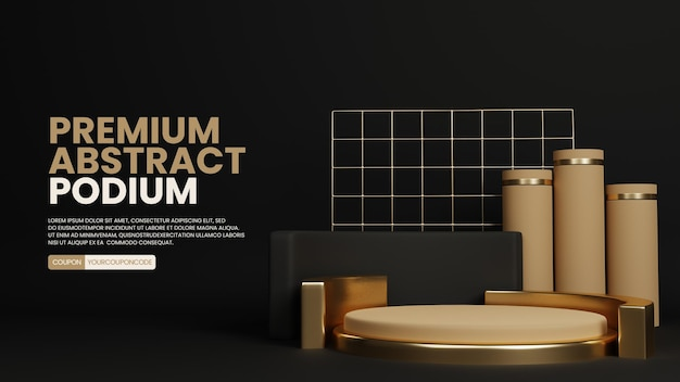 Luxe abstract podium productdisplay