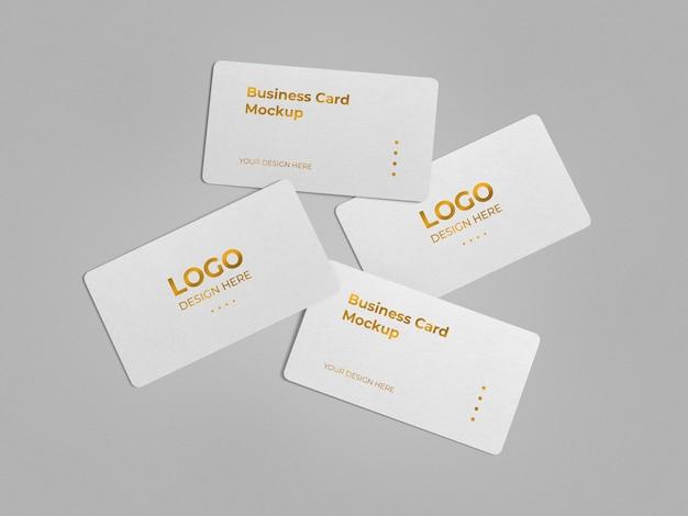 Luxe afgeronde hoeken visitekaartje mockup ontwerp
