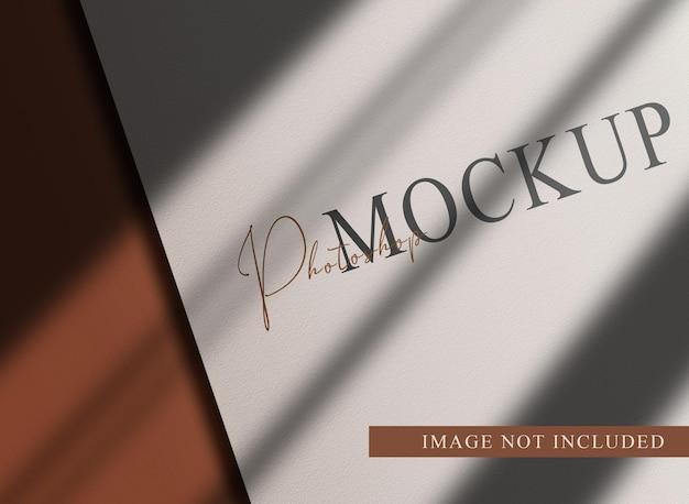 Luxe close-up papieren perspectiefweergave mockup