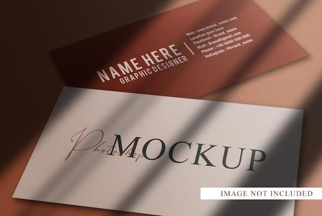 Luxe close-up visitekaartjes mockup