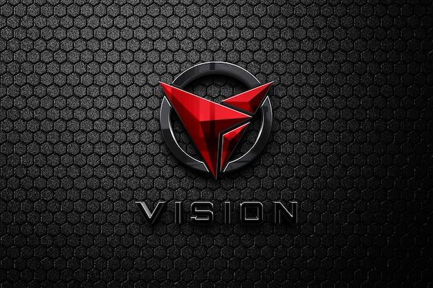 Luxe donker 3d logo mockup