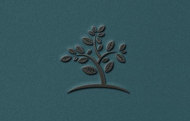 Luxe donker logo mockup-ontwerp