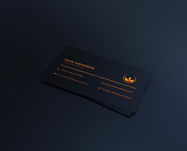 Luxe donkere visitekaartje logo mockup