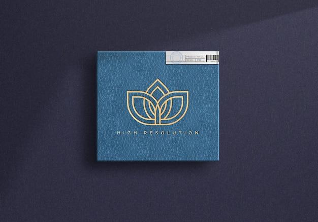 Luxe doos logo mockup ontwerp