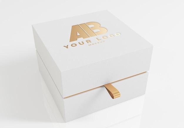 Luxe doos mockup ontwerpweergave