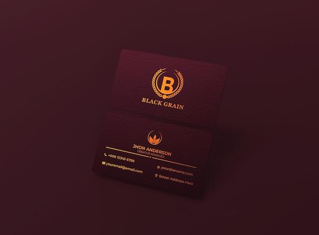 Luxe en minimalistische mockup voor visitekaartjes