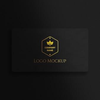 Luxe gouden geweven logo mockup