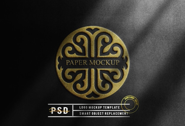 Luxe gouden logo mockup achtergrond