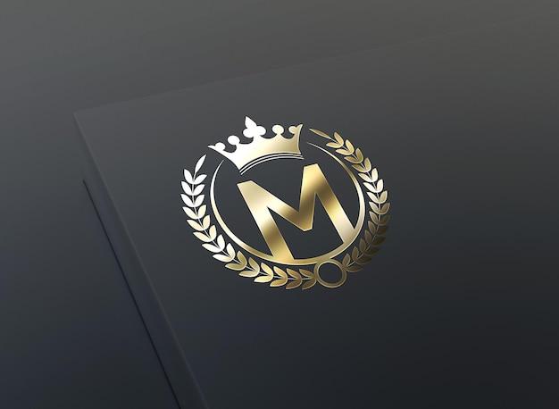 Luxe gouden logo-mockup