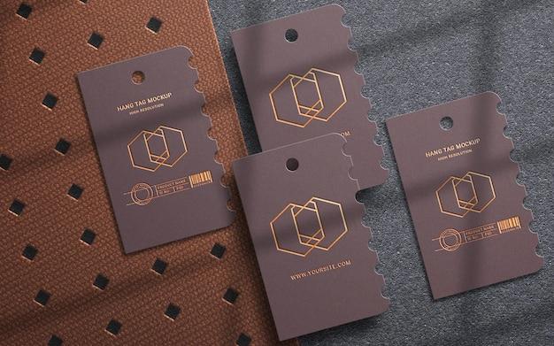Luxe hang tag set logo mockup-ontwerp