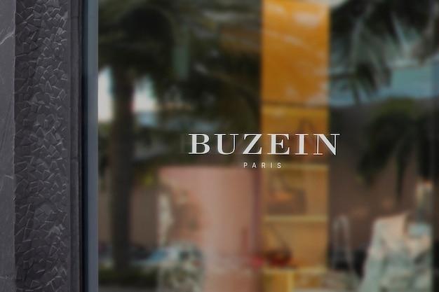 Luxe kleding venster teken logo mockup