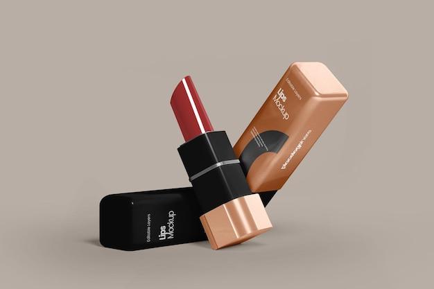 Luxe lippen mockup perspectiefweergave