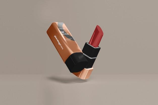 Luxe lippenmodel gesloten en geopend