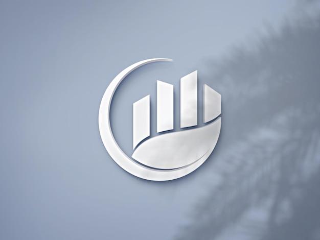 Luxe logo mockup-ontwerp voor het bedrijfsleven