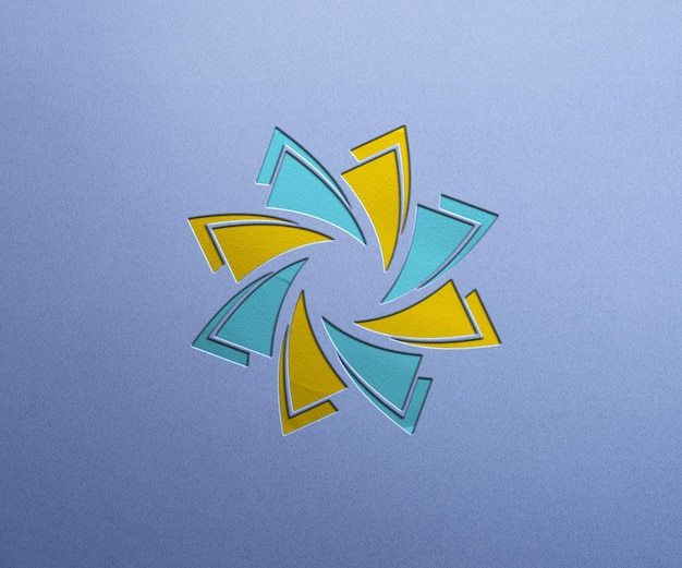 Luxe logo mockup ontwerp