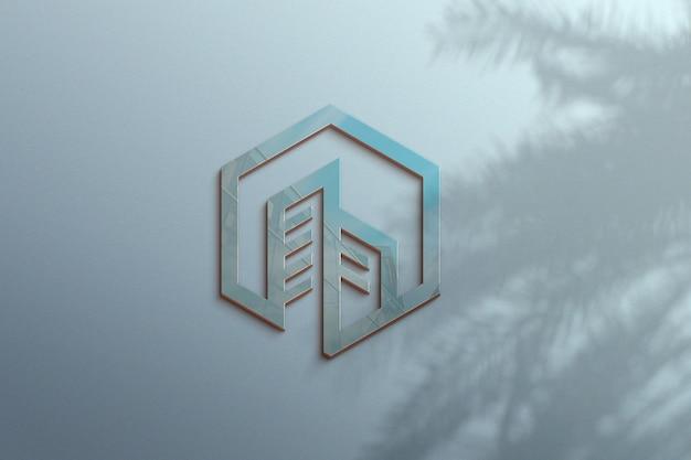 Luxe logo mockup-ontwerp