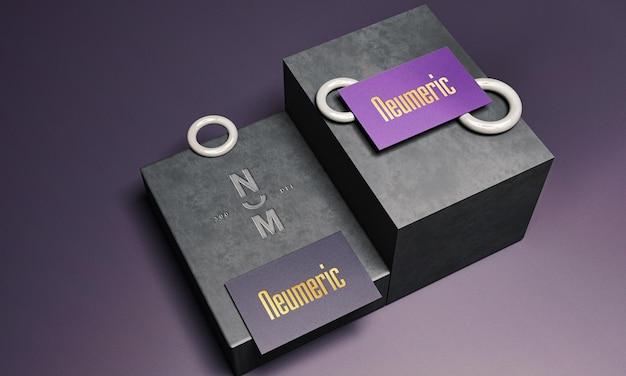 Luxe logo-mockup op visitekaartje
