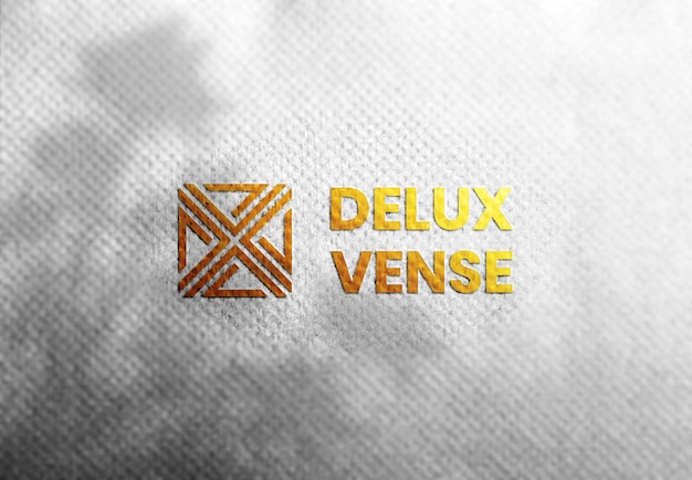 Luxe logo mockup op wit ambachtelijk papier premium psd,