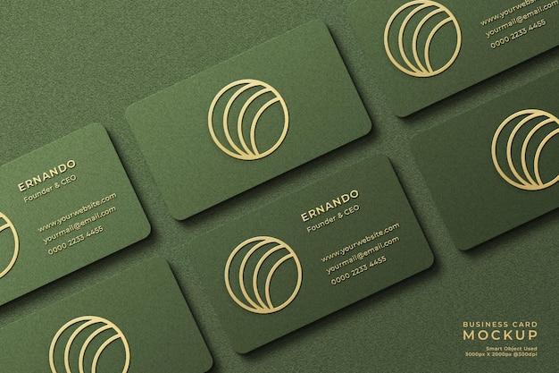 Luxe logomodel op horizontaal visitekaartje