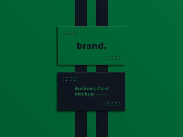 Luxe logomodel op zwart visitekaartje