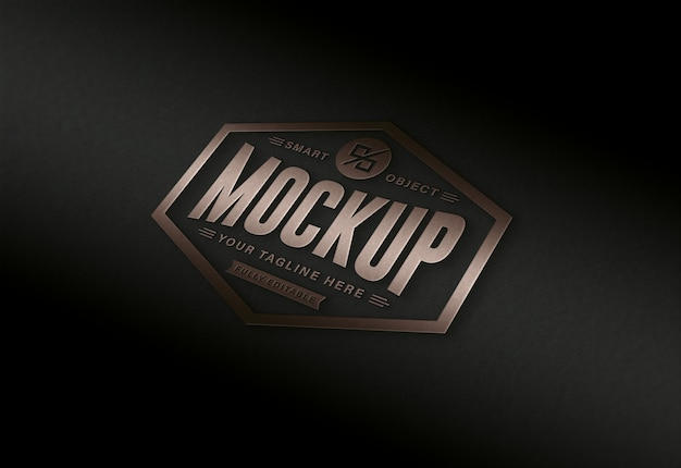 Luxe modern zwart en goudbruin bewerkbaar logomodel