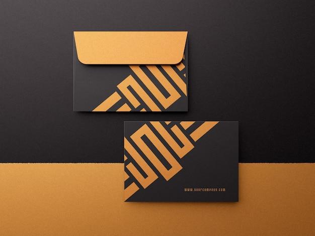 Luxe moderne envelop mockup c6 formaat