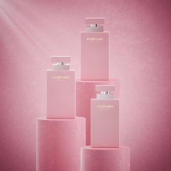 Luxe parfum logo mockup presentatie 3d render
