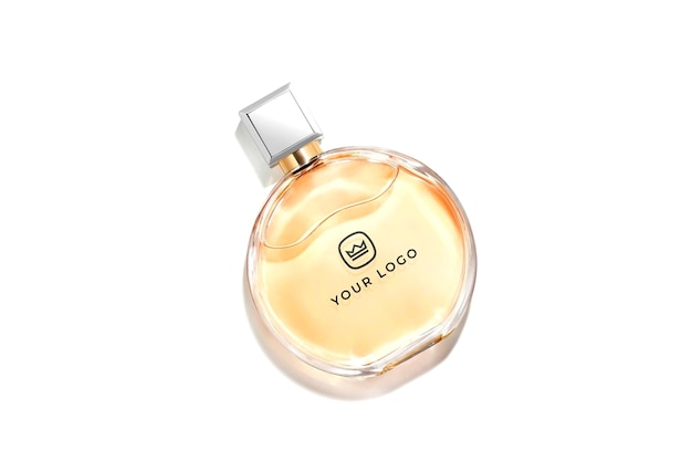 Luxe parfum logo mockup