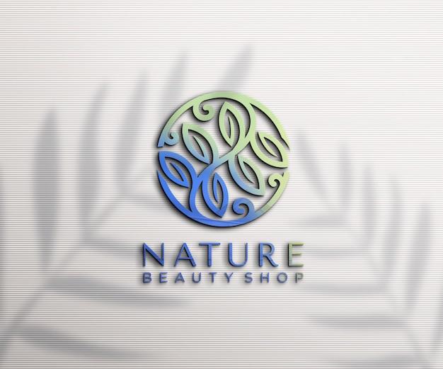 Luxe reliëf logo mockup-ontwerp