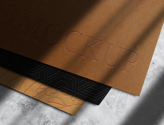 Luxe reliëfpapier met perspectiefweergave