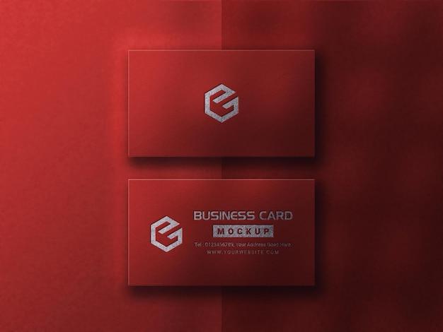 Luxe rood visitekaartjemodel met donkere schaduw