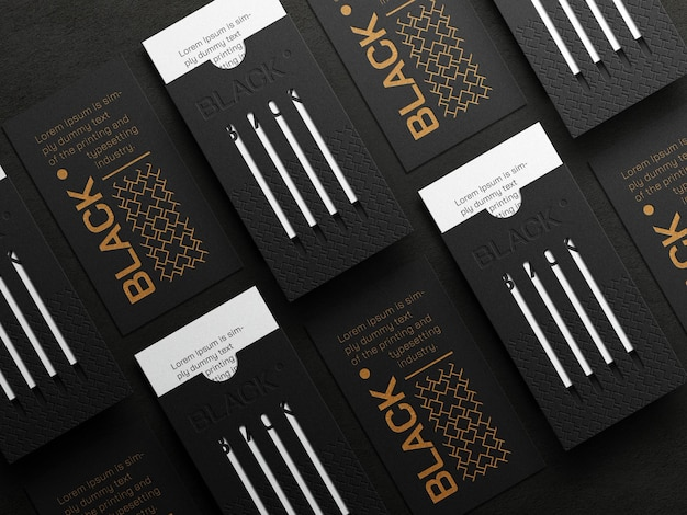 Luxe verticaal visitekaartjemodel met boekdrukeffect