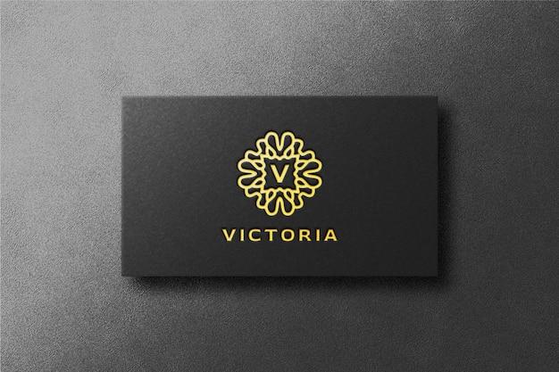 Luxe visitekaartje gouden logo mockup