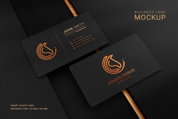 Luxe visitekaartje logo mockup met folie inscriptie effect